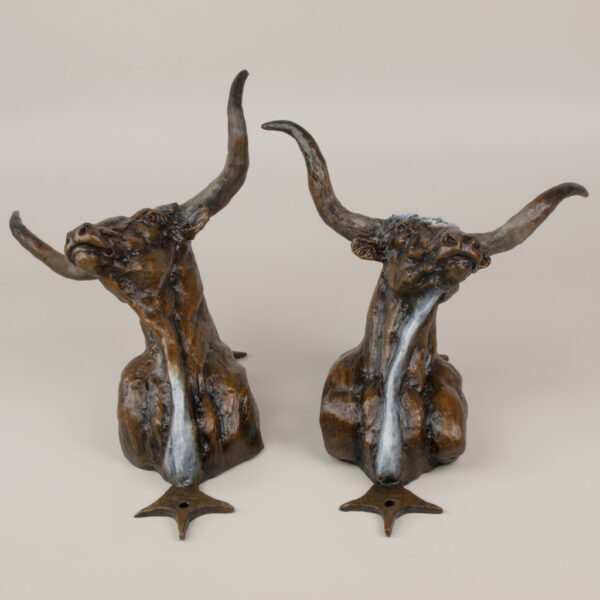 Steer Heads by Jay Contway