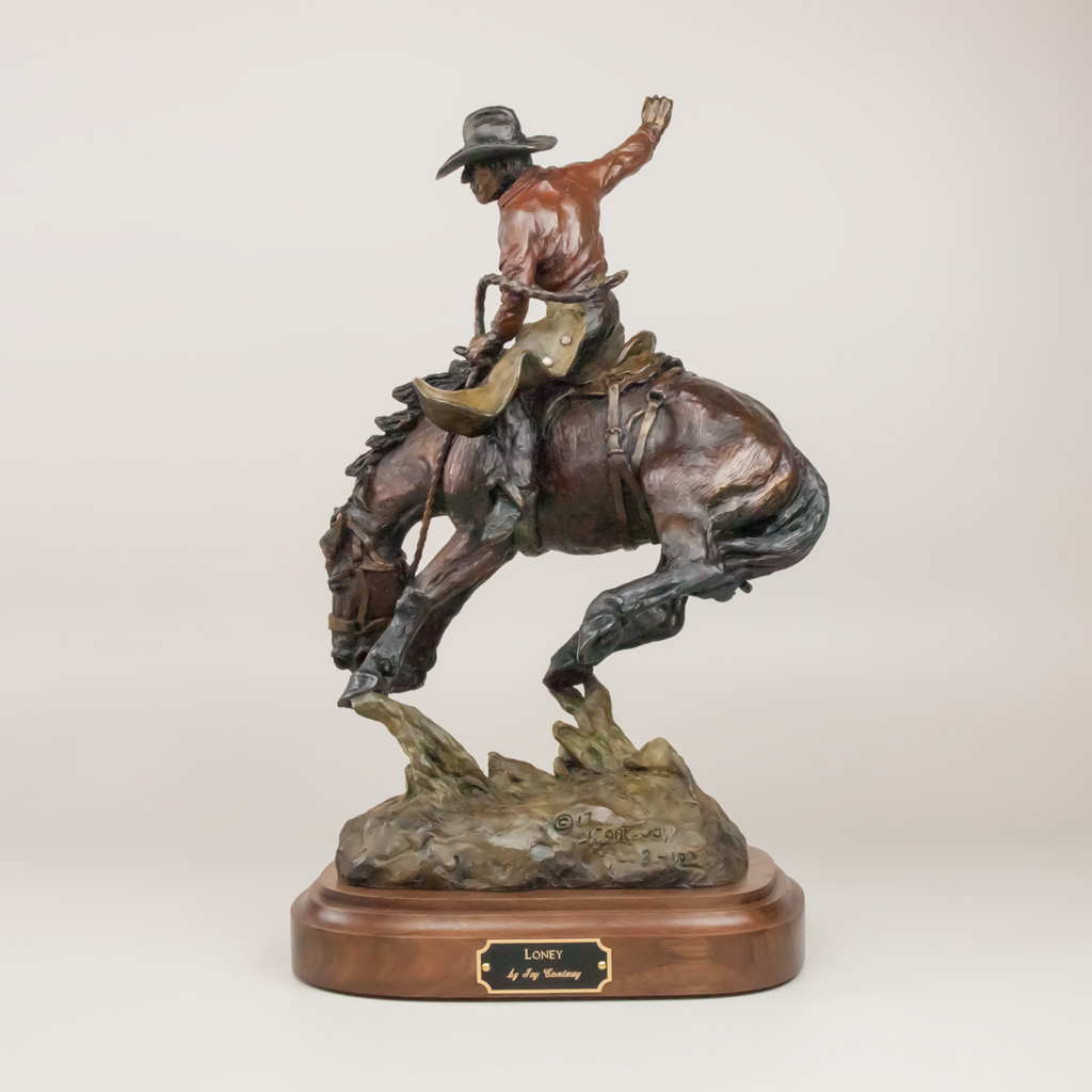 Loney by western bronze artist Jay Contway